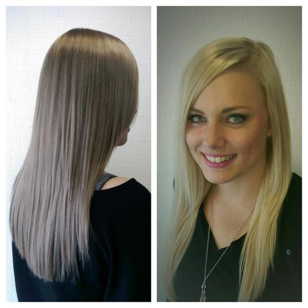 von blond auf grau